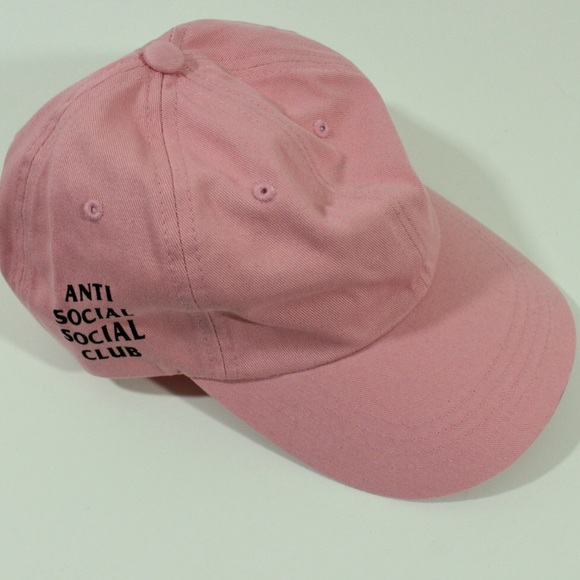 aeeeed48893 Anti Social Social Club ASSC Black Pink Weird Cap